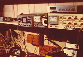 Drabpol, the first tachograph test and repair station, 1986