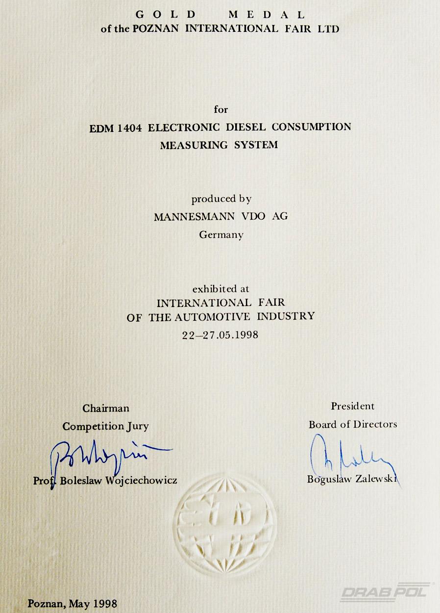 Gold Medal EDM 1404