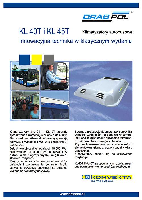 drabpol, konvekta, klimatyzatory autobusowe, KL40T, KL45T