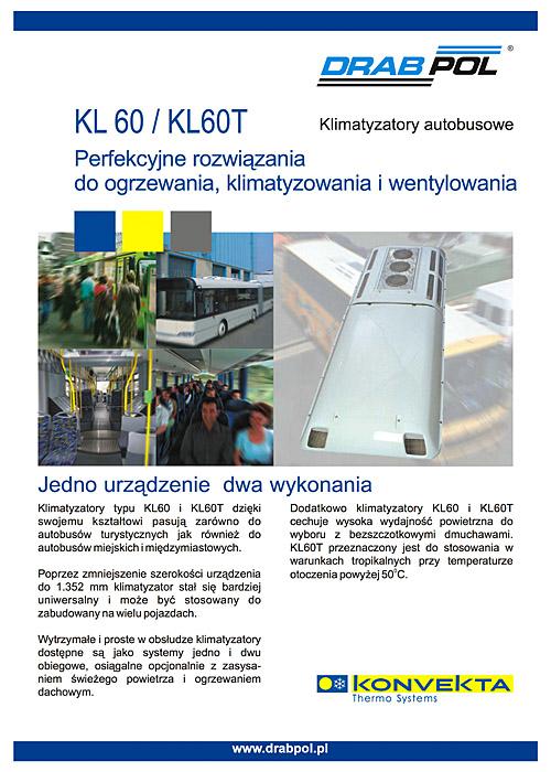 drabpol, konvekta, klimatyzatory autobusowe KL60, KL60T