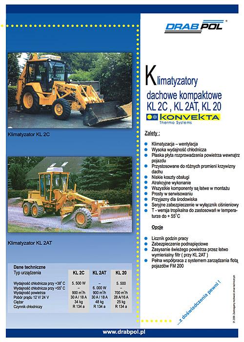 drabpol, konvekta, klimatyzatory dachowe, kompaktowe, KL2C, KL2AT, KL20