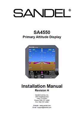 Sandel Avionics, SA4550_82010-IM-H_Installation_Manual