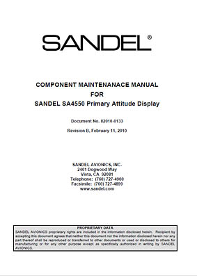 Sandel Avionics, SA4550_82010_0133_b_component_maintenance_manual