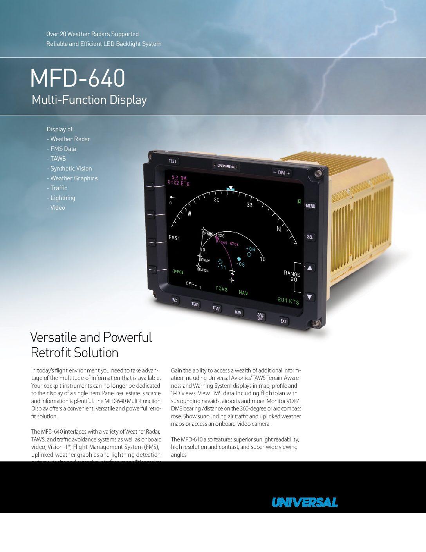 Universal Avionics, UASC MFD 640