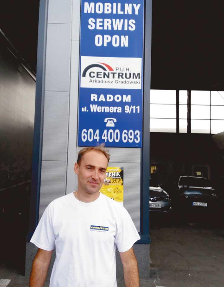 Arkadiusz Gradowski właściciel PUH CENTRUM