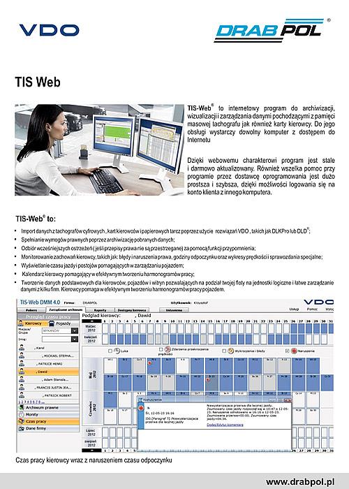 drabpol, VDO, TIS Web