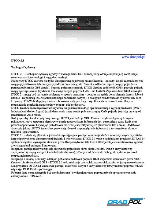 drabpol, DTCO tachograf cyfrowy