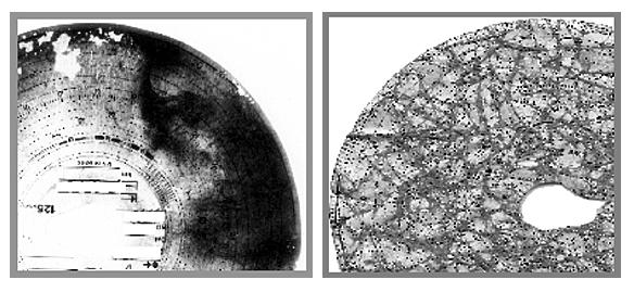 Drabpol, Laboratorium Analiz Zapisów z Tachografów, Analiza mikroskopowa pozwala odtworzyć parametry ruchu pojazdu z wykresówek zniszczonych, lub uszkodzonych