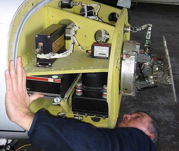 Drabpol, awionika, diagnostyka systemu radaru pogodowego na samolocie