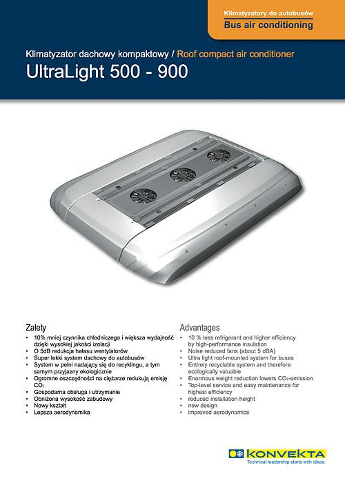 Drabpol, Konvekta, klimatyzatory do autobusów, Ultralight 500-900