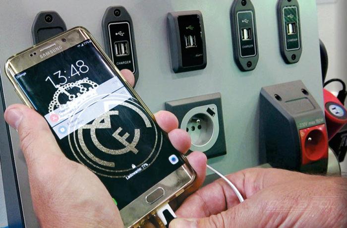 USB chargers, public transport
