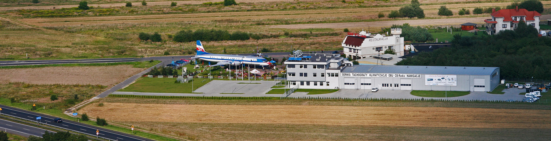 headquarters aerial view of
