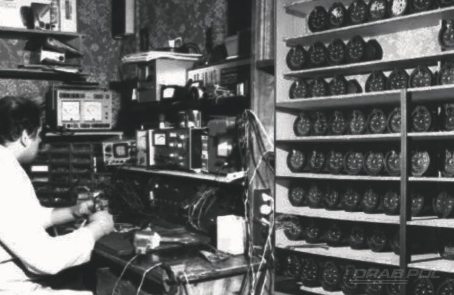Pierwsze stanowisko do kontroli i napraw tachografów (1986)