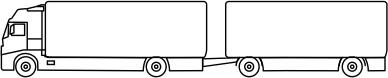 system CPC, ContiPressureCheck, ciężarówka z przyczepą
