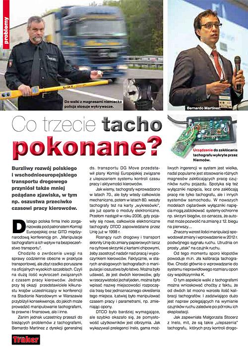 drabpol, DTCO tachograf cyfrowy, urządzenia do zakłócania tachografów, Polski Traker